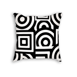 Squares and Circles Throw Pillow