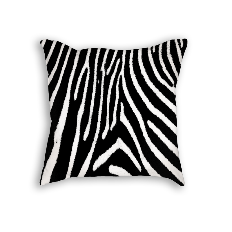 Zebra Pattern Throw Pillow