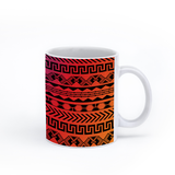 graphic image of an aztec pattern on a coffee mug  presented by Star Showroom