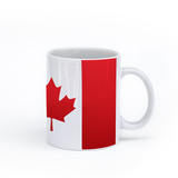 graphic image of the flag of Canada on a coffee mug  presented by Star Showroom