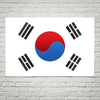 South Korea Flag Wall Art