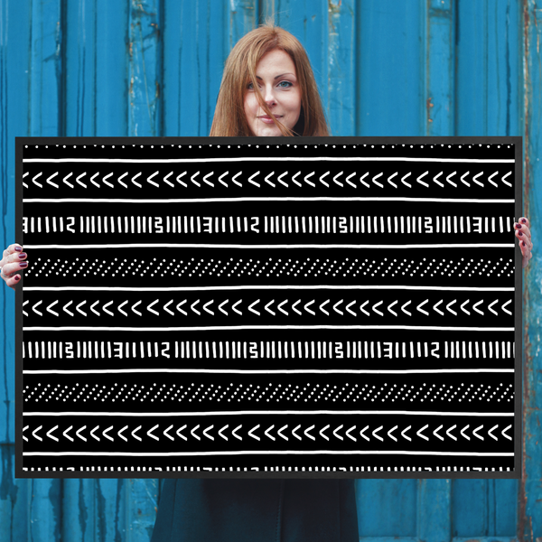 Mud Cloth Pattern Wall Art