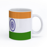 graphic image of the flag of India on a coffee mug  presented by Star Showroom
