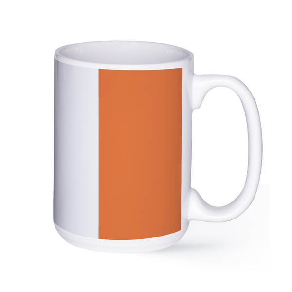 graphic image of the flag of Ireland on a coffee mug  presented by Star Showroom