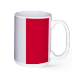 graphic image of the flag of Italy on a coffee mug  presented by Star Showroom