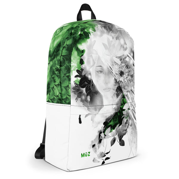 "m ū z Jade ""Green"" Floral backpack"