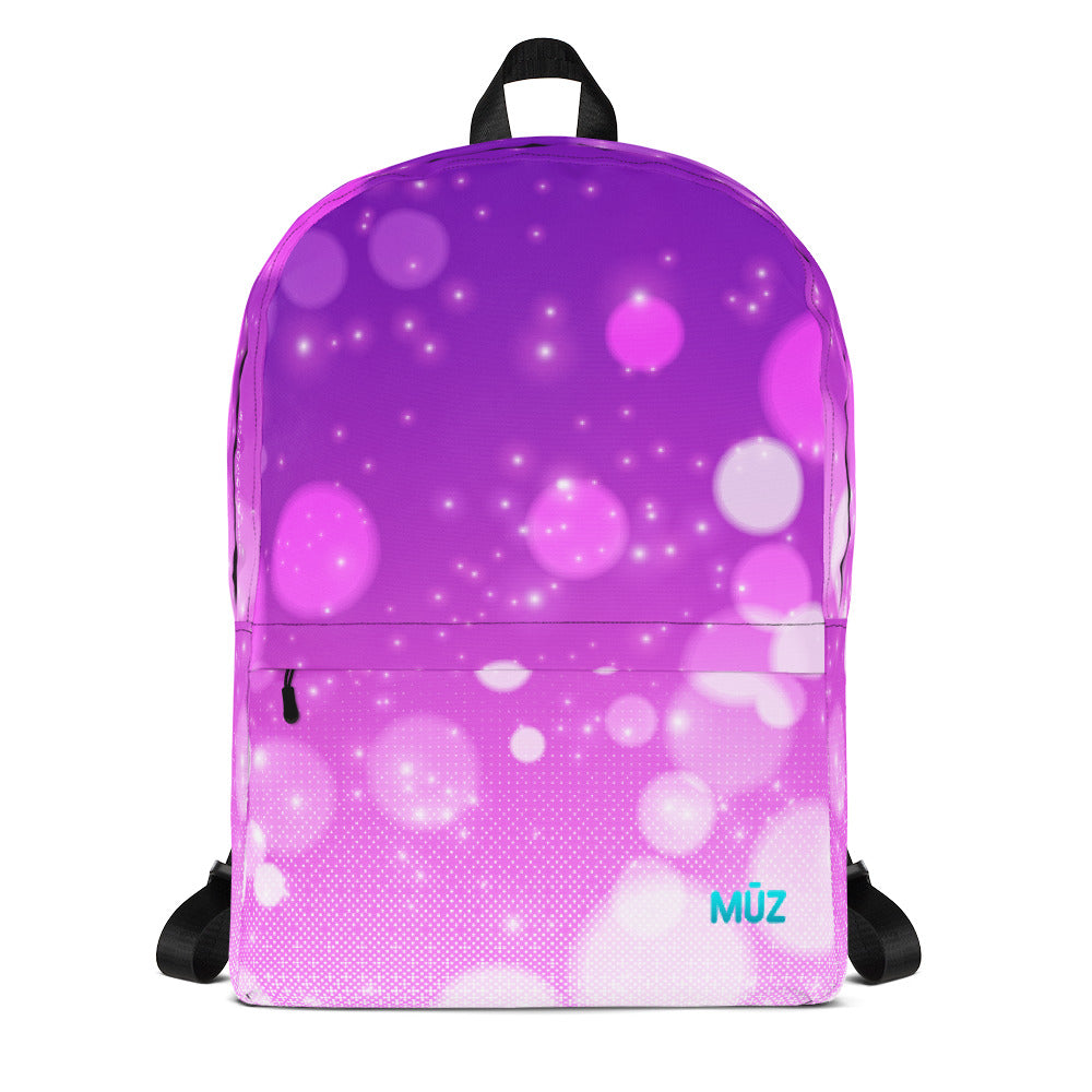 "m ū z ""Neon Bokeh"" backpack"
