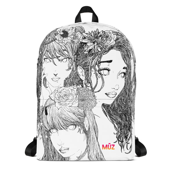 "m ū z ""Sharpie Girls"" backpack"