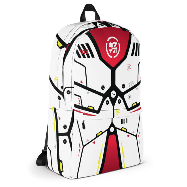 "m ū z QīFō ""White Flak"" backpack"