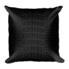 Alligator Pattern Throw Pillow