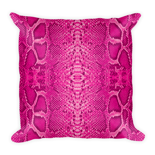 Snakeskin Pattern Pillow Cushion