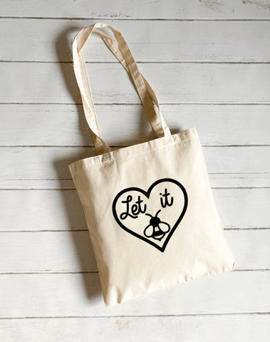 Let it bee canvas tote bag