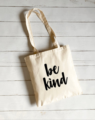 Be kind canvas tote bag