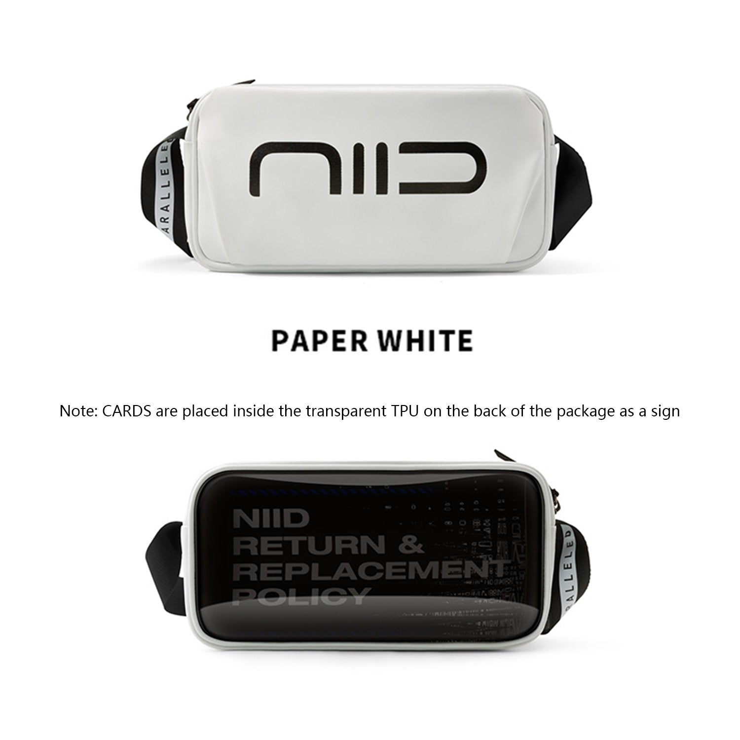 NIID Statements S1 Sling Bag Paper White