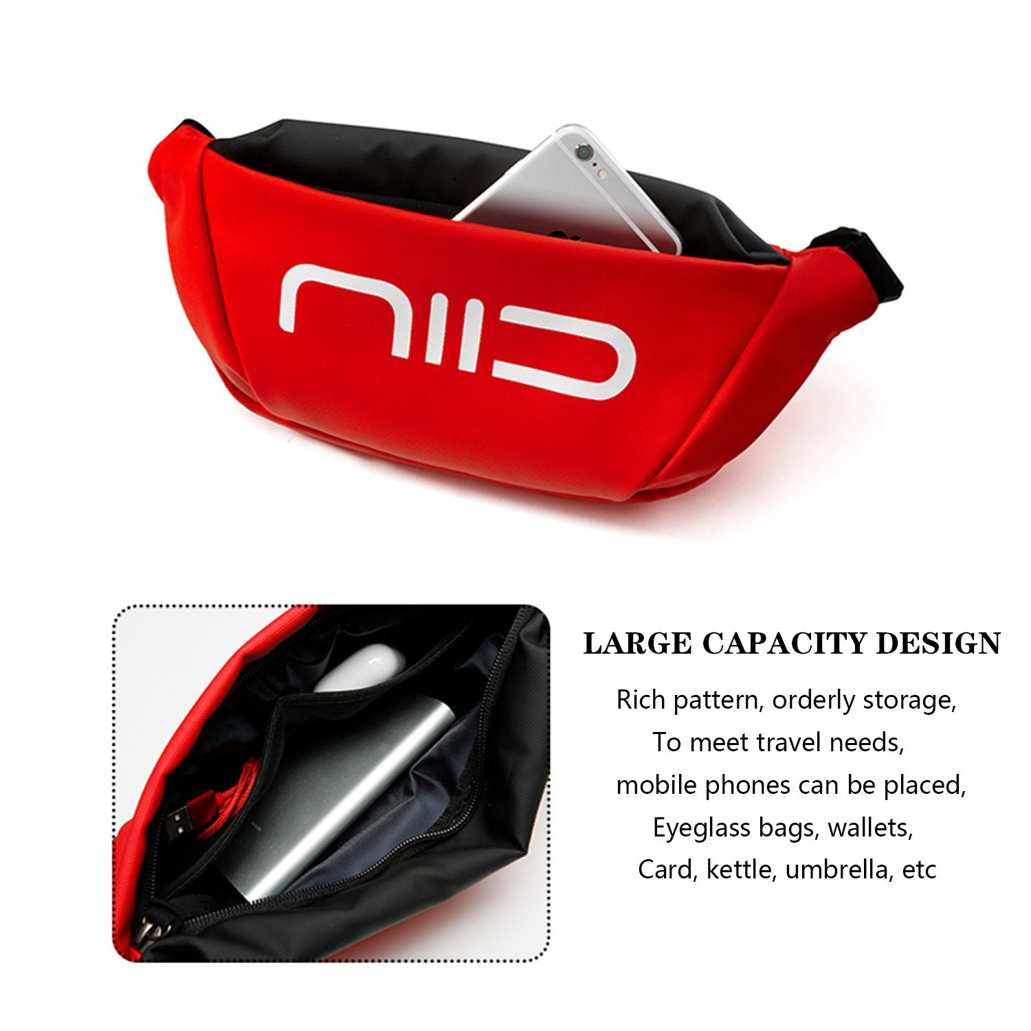 NIID Statements S3 Chest Bag Red