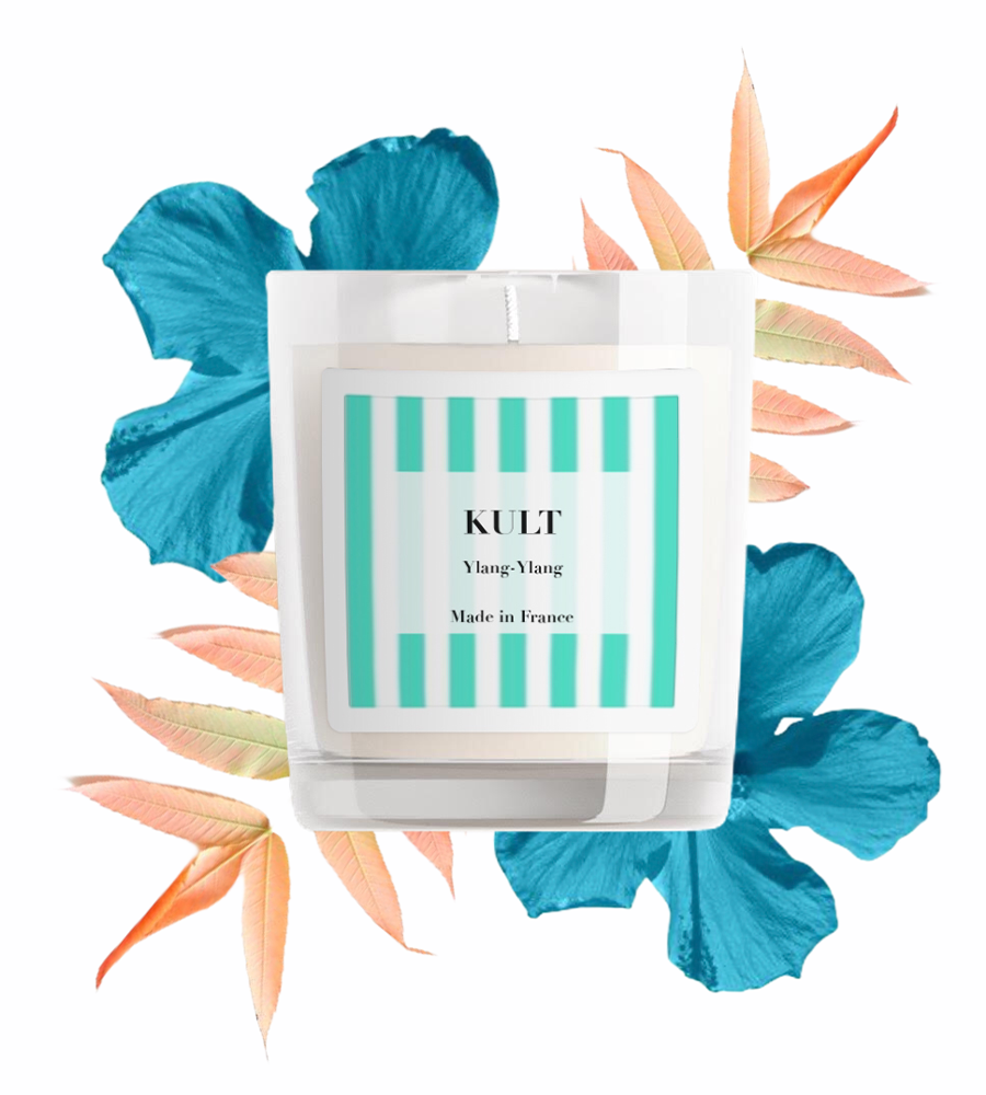 Bougie Ylang-Ylang Kult Collection avec décor