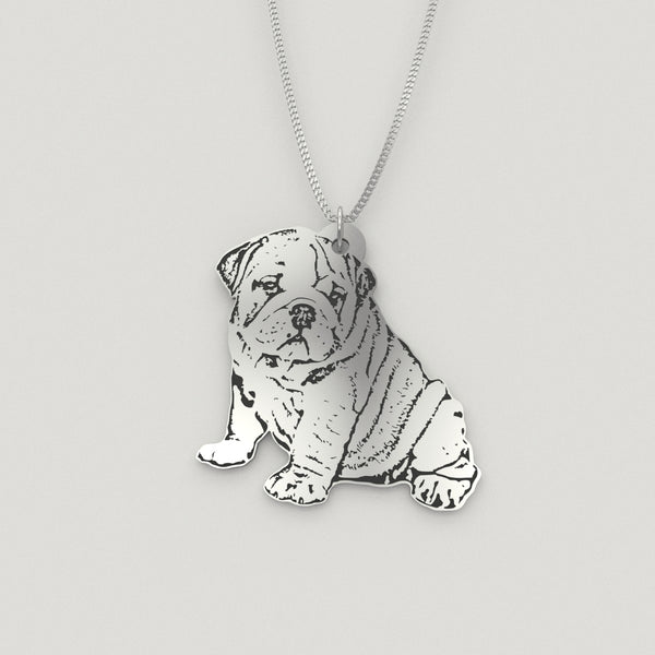 Pet Silhouette Pendant Ideal for Dogs - Cats - Horses - Rabbits - Any Pet You Love