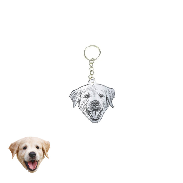 Family Pet Silhouette Keychain - Unique Gift for Pet Lovers