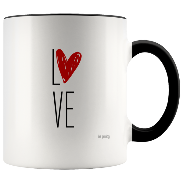 Premium Brand Love Genealogy Coffee Mugs Assorted Designs & Assorted Colors Tea Hot Chocolate Family History Gift for Genealogist