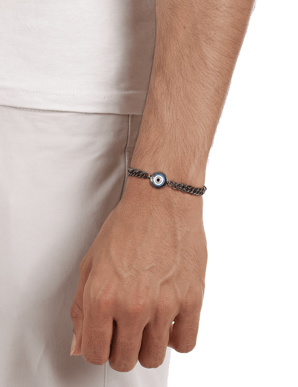 Bracelets for men in gunmetal