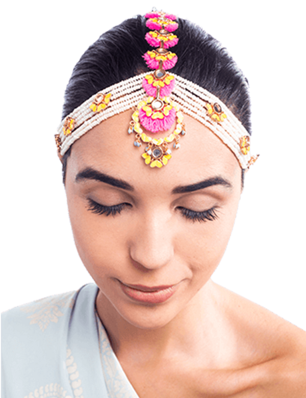 Neon Trance Beaded Headgear