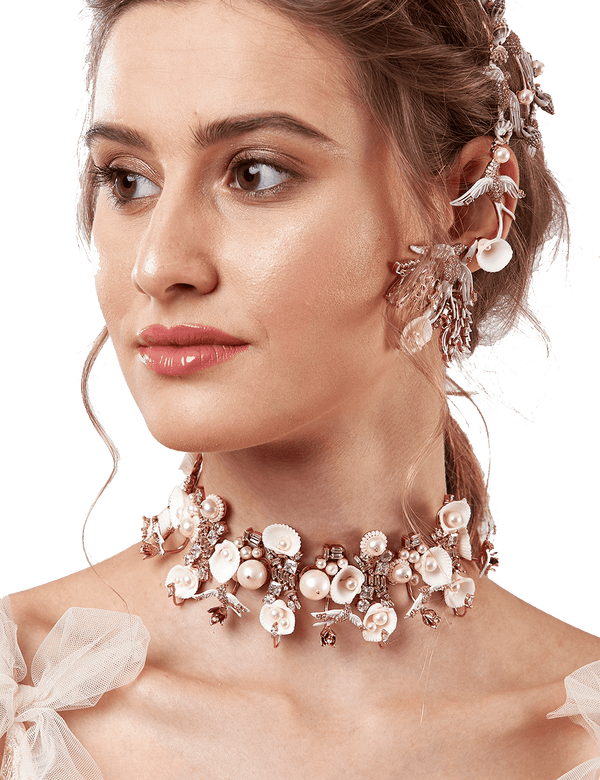 Bridal choker necklace