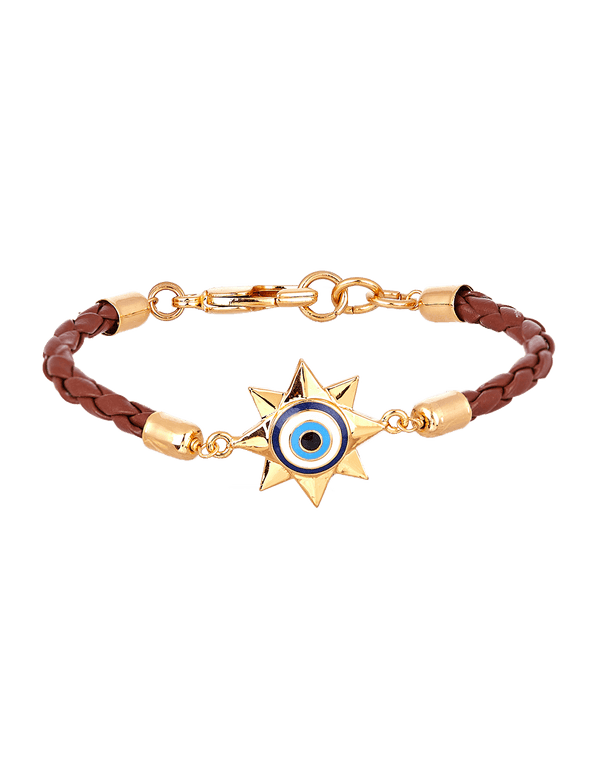 Brown evil eye bracelets