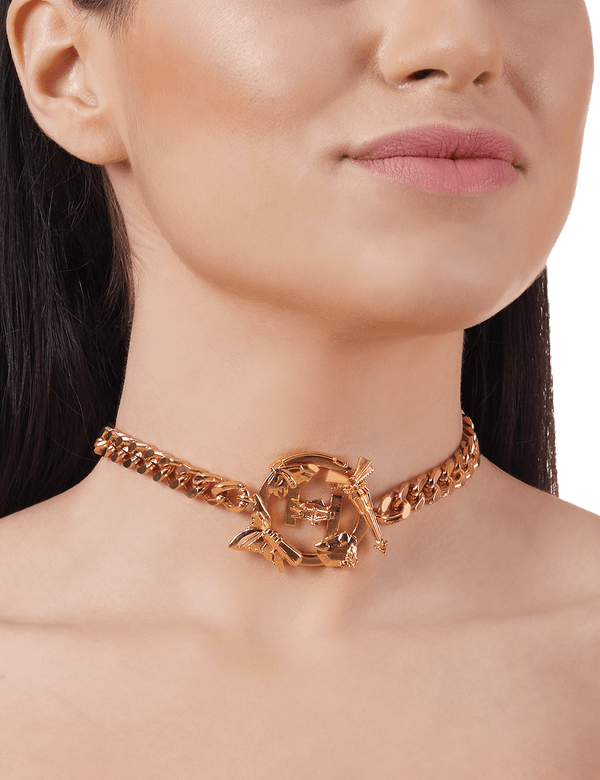 Choker necklace gold