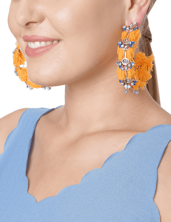Citric semi hoop earrings for women