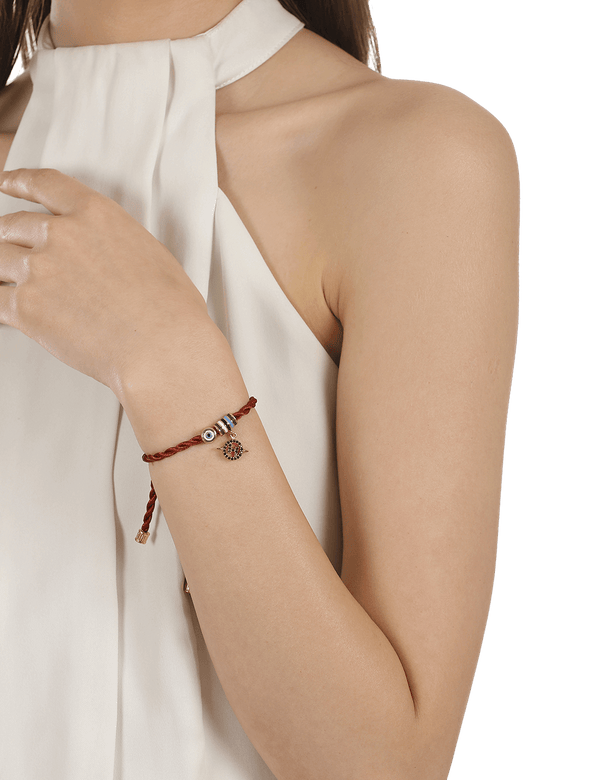 Delicate evil eye bracelet for women