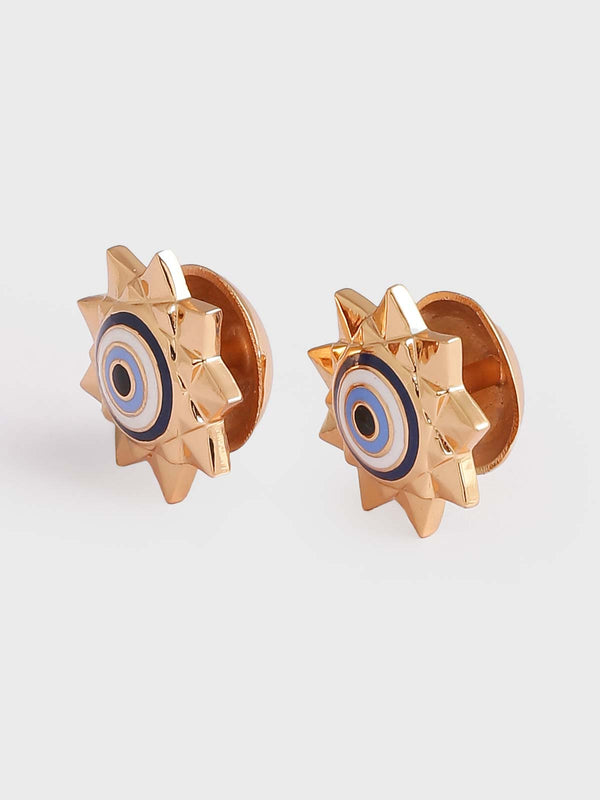 Designer gold cuff links