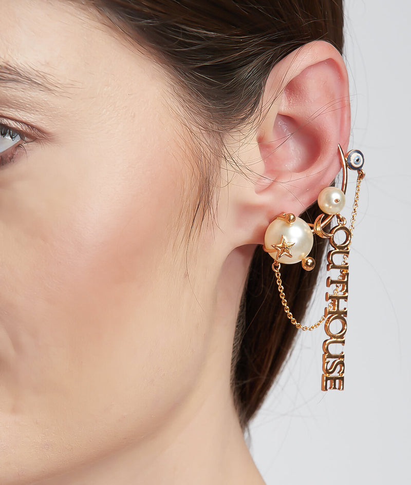 Pearls des Celeste Ceslestial Earcuff Earrings