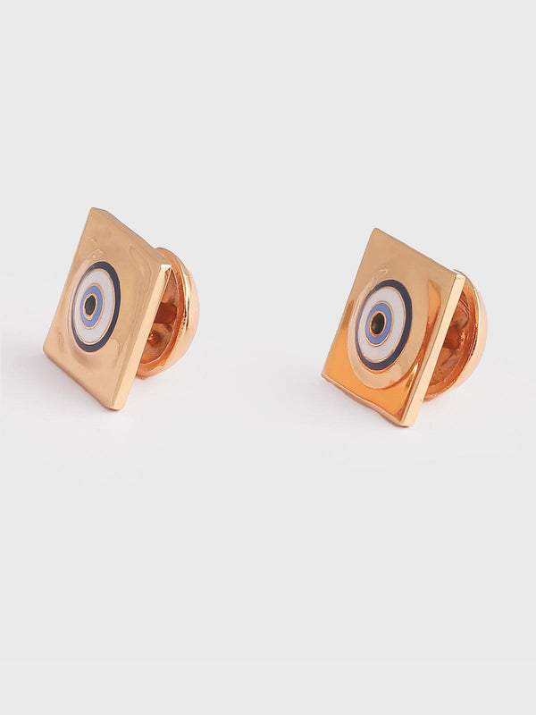 Square evil eye cufflinks