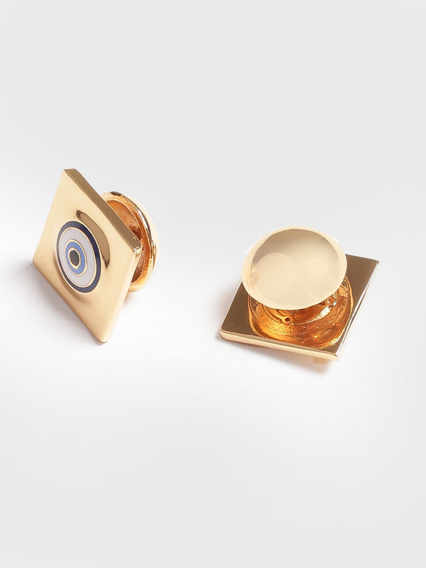 Gold cufflinks in evil eye