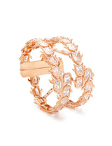 Designer hand bracelet in rose gold