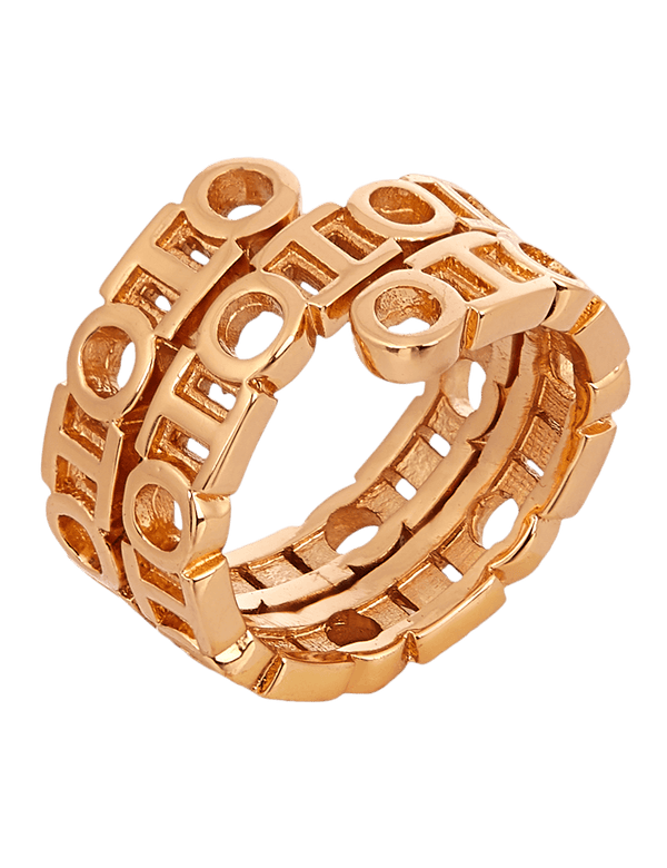 Gold spin rings for women