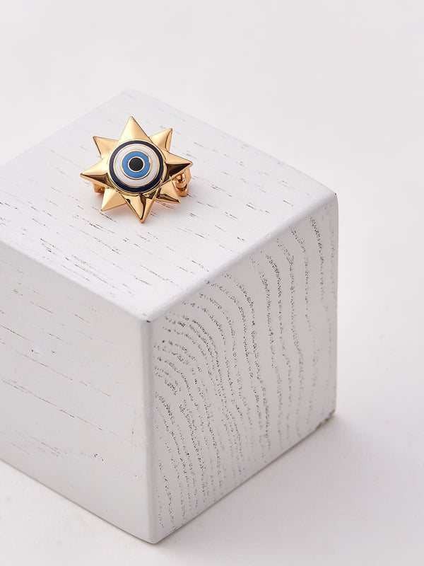 Evil eye brooch