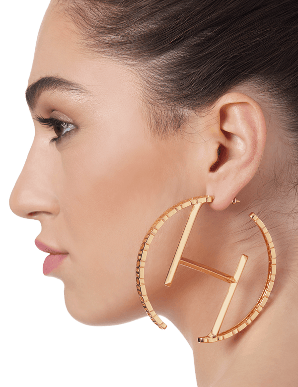 Gold hoop earrings for women