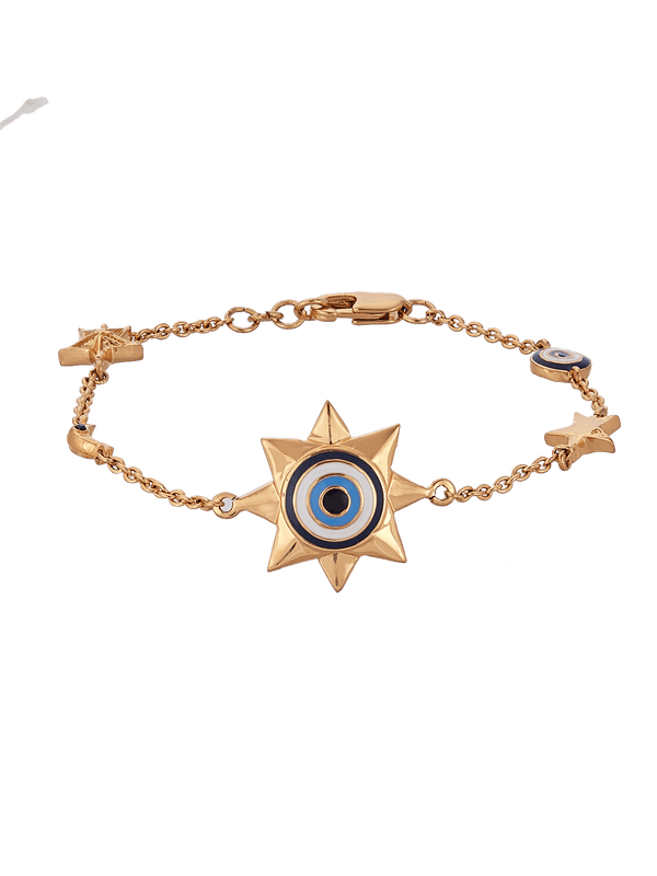 Evil eye bracelet in gold