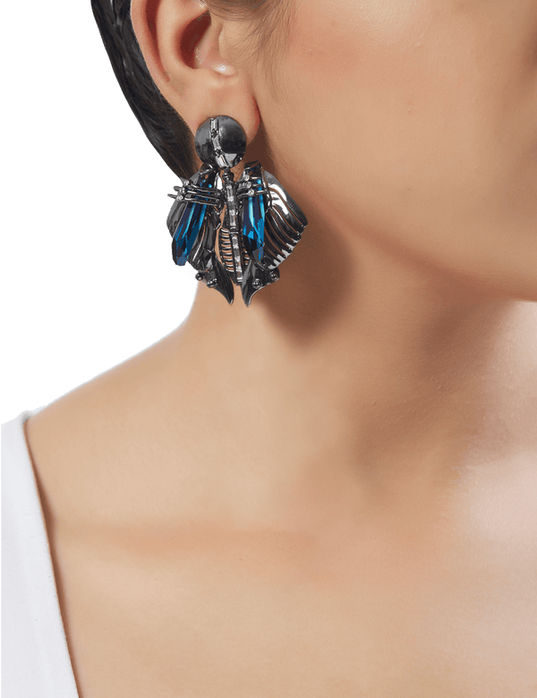 Gunmetal earrings for women
