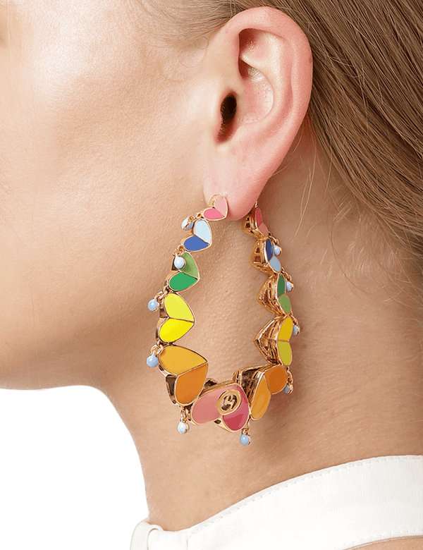 LGBTQ Pride Hoop Earrings Multi Colour