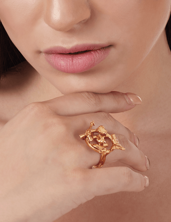 Luxury gold rings