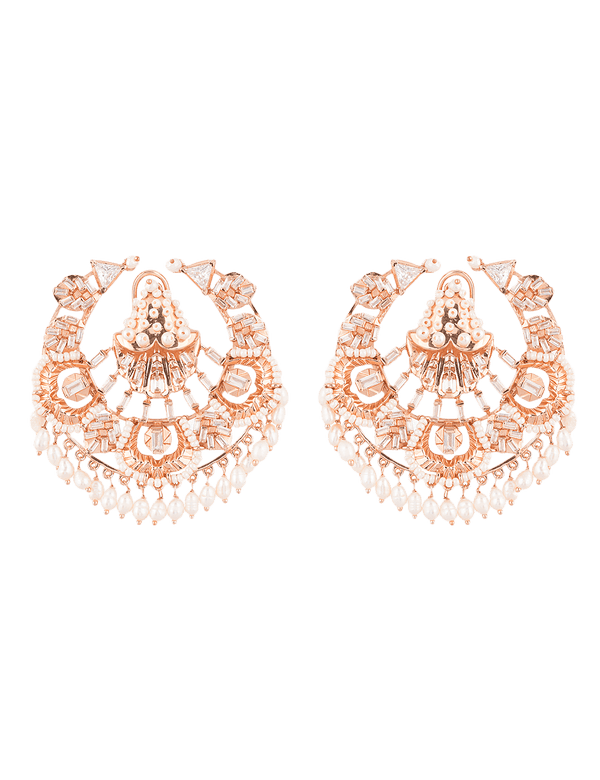Modern Designer Rose Gold Earrings
