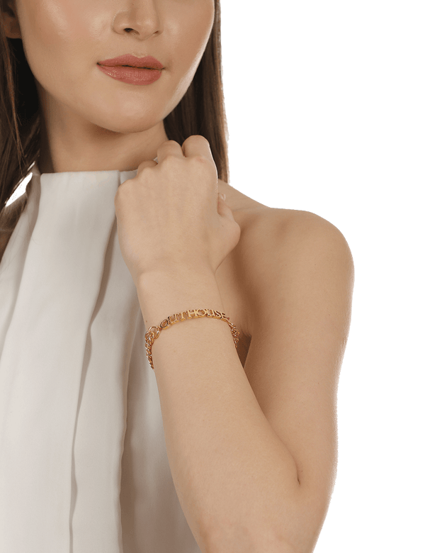 Outhouse gold bracelets for women