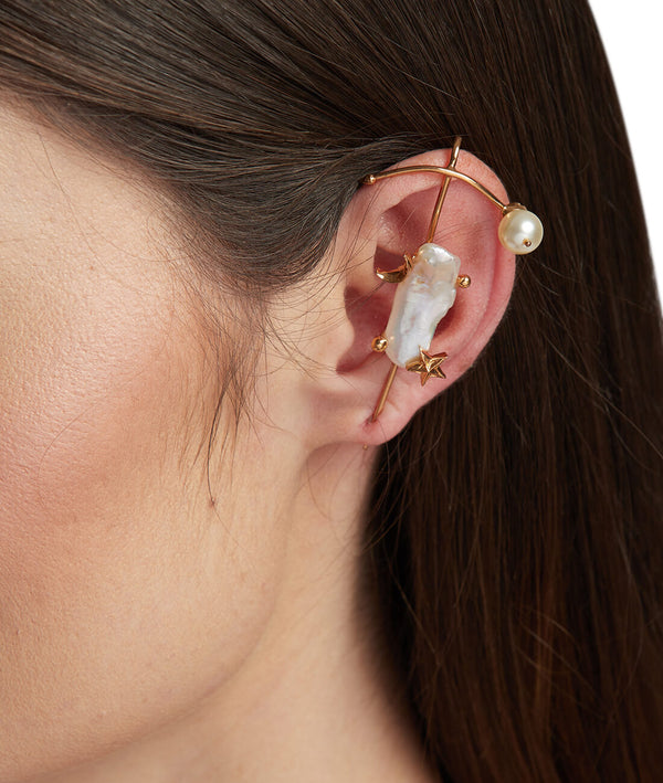 Pearls earcuff earrings