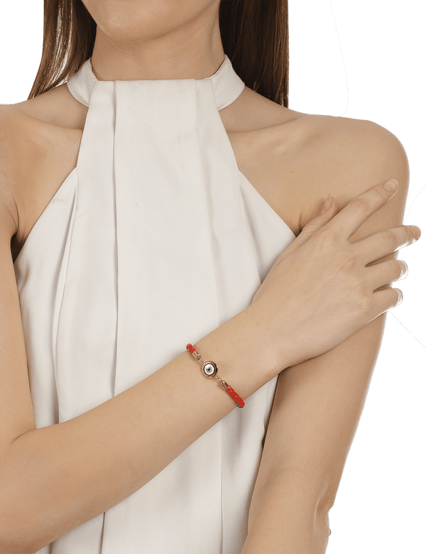 Red women evil eye bracelet
