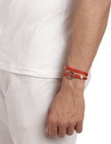 Red men designer bracelet