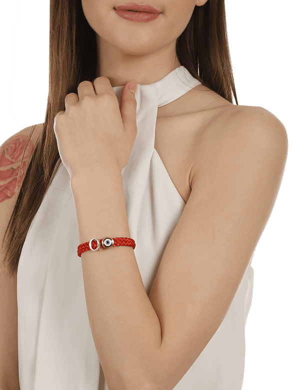 Red personalised bracelet gift for women