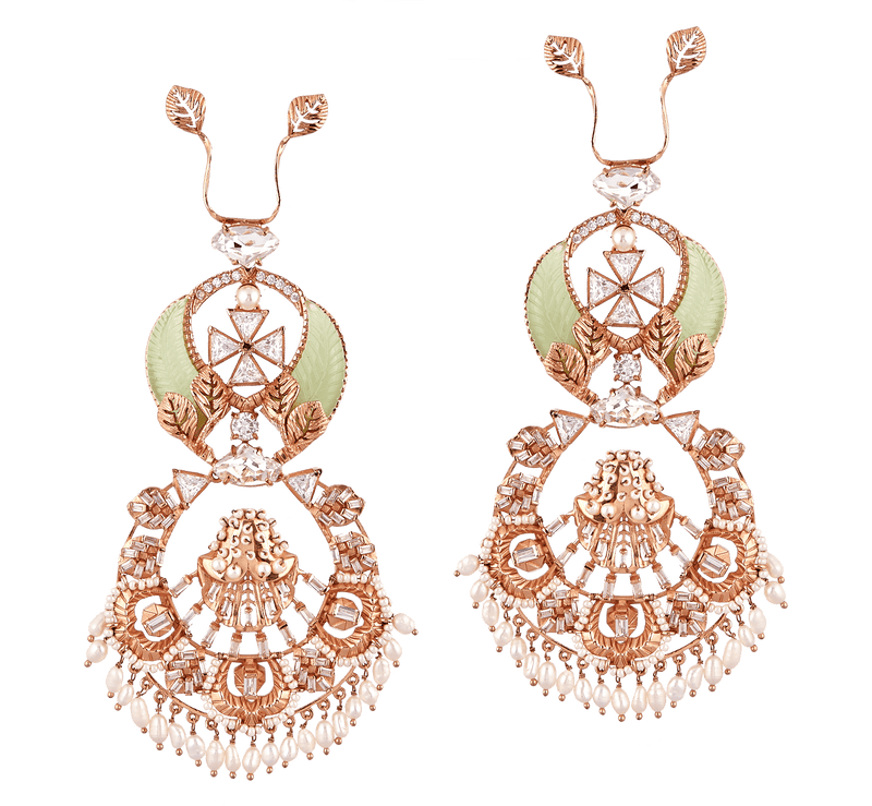 Rose gold earrings design