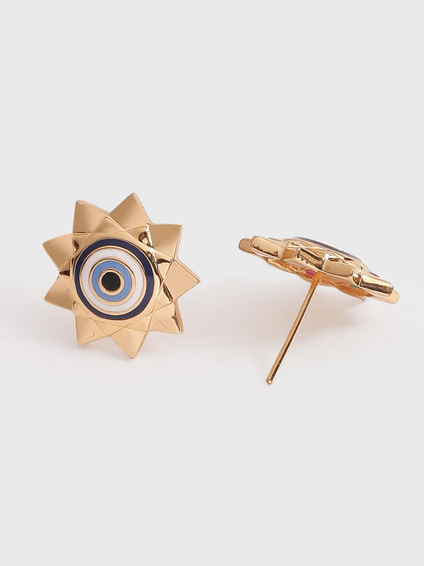 Star evil eye earrings